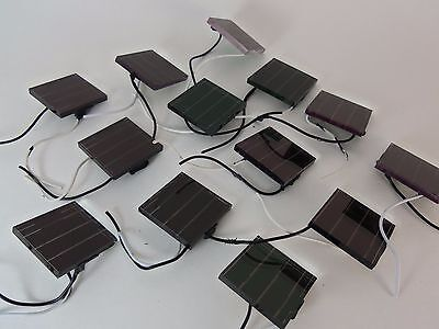 13X 2 Volt 28mA .07W Solar Light Project Cells Panels 2V Wired FAST USA Shipping (Solar Panels Lights)