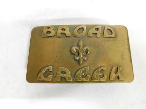 BSA : Vintage 1970s BROAD CREEK  Brass Teepee Buckle