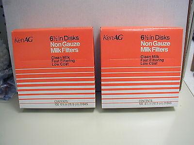 KenAg Milk Filter/Strainer - For 6.5 inch Strainer Disc - ( 2 ) Boxes of 100 New
