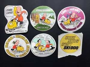Vintage SKIDOO 70's stickers Bombardier snowmobile (6)