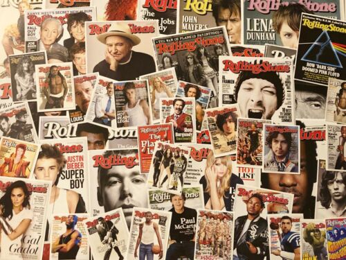 Mix Lot 50! ROLLING STONE Magazine COVERS ONLY~Vtg 2010s Repro Collage Scrap Art
