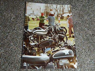 OLD VINTAGE MOTORCYCLE PICTURE PHOTOGRAPH NORTON INDIAN MATCHLESS BIKES