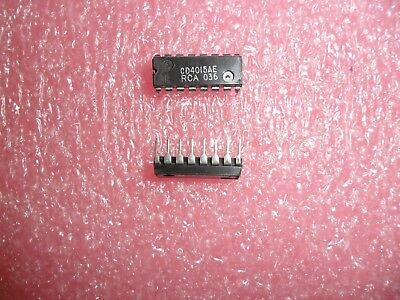 Cd4015ae Ic Shift Register 16 Pin Plastic Dip Rca Lot Of 2