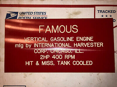 2hp Ihc Vertical Famous Sign Hit Miss Stationary Engine