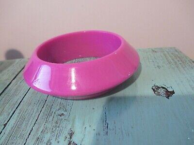 Vintage Magenta Pink/ Purple Lucite, Old Plastic Flying Saucer Bangle Bracelet](Flying Saucer Costume)