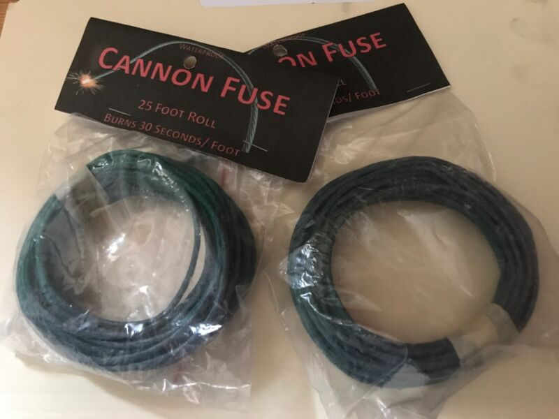 TWO-25 ft 3mm premium quality cannon/safety fuse