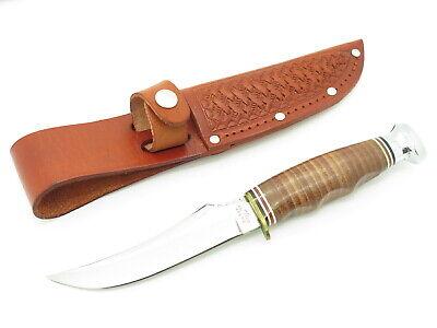 Vtg 80s Ka-bar Olean NY 1233 Seki Japan Small Fixed Blade Skinner Hunting Knife
