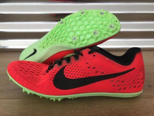 Nike Zoom Victory 3 Track Running Spikes Orange Black Volt SZ ( 835997-663 )