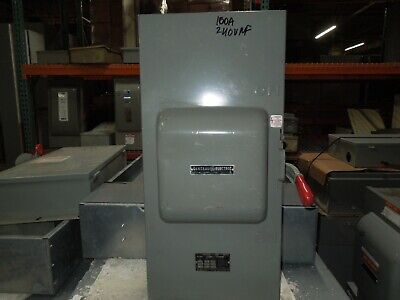 Ge Tc70323 100a 3ph 3p 240v Ac Double Throw Non-fused Manual Transfer Switch