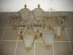 Lotto 10 vecchie lanterne da esterno in ferro battuto da - Lanterne da esterno in ferro battuto ...