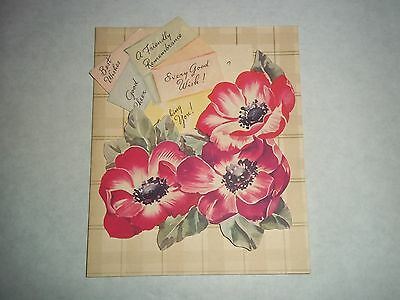 Vtg. Greeting Card - Get Well Message - Christian/Religious/Unused - 1950