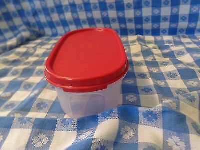 Tupperware NEW Modular Mate Mates Oval 1 NEW RED  Seal Storage Container