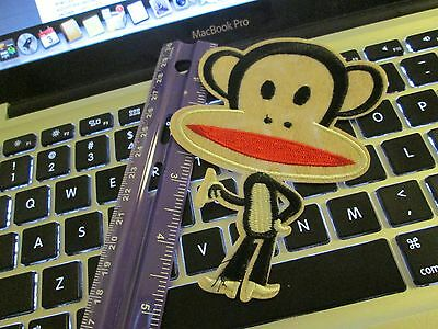 - Iron on embroidered applique-patch- Sock Monkey-3.5x5-large