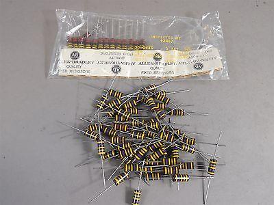 Mixed Lot Of 100 Allen Bradley 2 Watt Carbon Comp Resistors 470000 22 Ohm