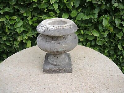 Small Antique Marble Stone  Garden Urn 23 cm high  (602)