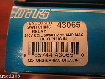 Mars Enclosed Switching Relay 240vacdpdt - 43065