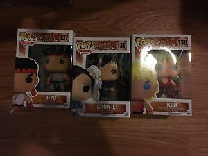 Funko pops - street fighter