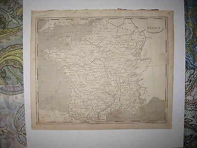 ANTIQUE 1805 FRANCE COPPERPLATE ARROWSMITH & LEWIS MAP WINE REGION AREA INTEREST France Wine Region Map