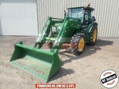 2016 John Deere 5115m Loader Tractor Cab Heatac 4x4 3pt 540 Pto 420 Hours 115hp