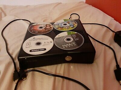Microsoft Xbox 360 Slim 250 GB Black Console Fully working + Fully working games