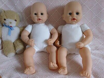 "Twin 17"" Baby Dolls To Dress ~ Vinyl /Soft Baby Dolls. Baby Annabell Please Read"