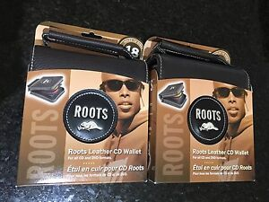 Brand New Roots Leather CD/DVD Wallet