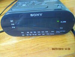 Sony DREAM MACHINE AM FM Dual Alarm LED Clock Radio Model ICF-C218 Tested/Works