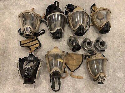 Lot Of Msa Scba Ultra Elite Full Face Respirator Masks - 5 Full - 2 Incomplete -