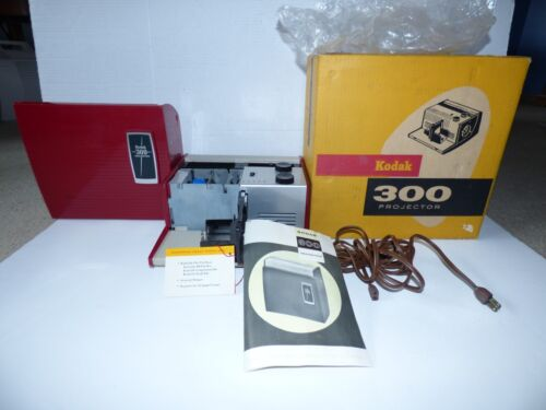 Kodak 300 Projector Model 1 With Instructions Box Manual Stunning Condition LOOK