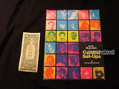ZILDJIAN 1975 CYMBAL SET-UPS OF FAMOUS DRUMMERS BOOK