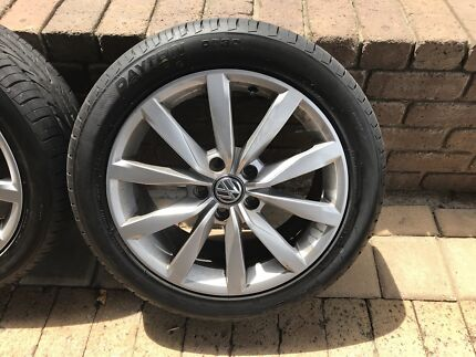 VW 17 inch wheel rims - Tyres and Rims As new