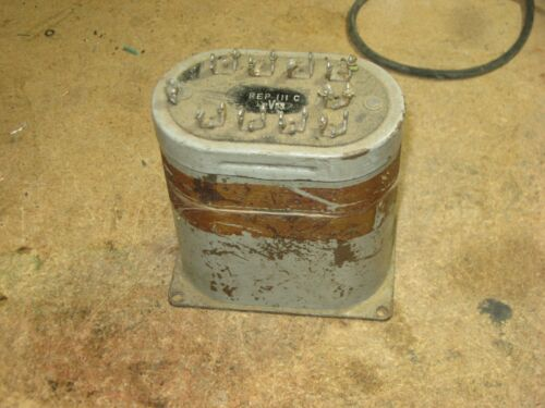 WESTERN ELECTRIC REP-111C REPEAT COIL, LAST ONE, LOOKS ROUGH, TESTS GOOD