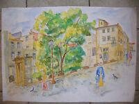 Watercolour Metz Chapelle St Genest André Simon 1926-2014 1995 Artist Lorraine - simon - ebay.co.uk