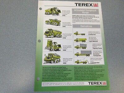 Terex 2366 2566 2766 3066 4066 Dump Truck Literature