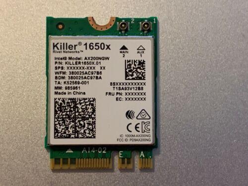 KILLER RIVET NETWORKS 1650X WIRELESS CARD WI FI