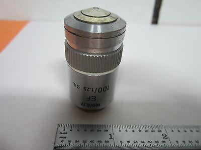 Leitz Wetzlar Germany 100x Ef Objective Microscope Optics Binj7-08