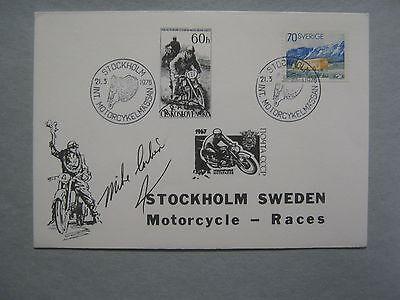 MIKE CORBIN  Electric Motorcycle Inventor  Signed 1976 Stockholm Sweden Envelope