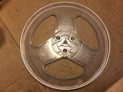 "Vintage 7-Inch Take-Up Tape Reel Empty reel-to-reel Clear Plastic w// label 1//4/"""