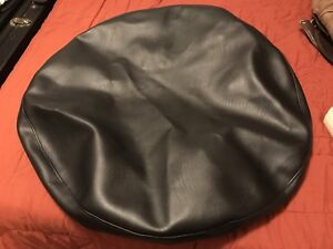 Brand New Custom Hand-Made Black Leather Spare Tire Cover