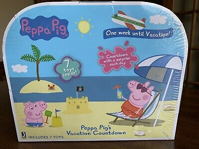 New Peppa Pig One Week Until Vacation Countdown Advent Calendar Surprise Toys
