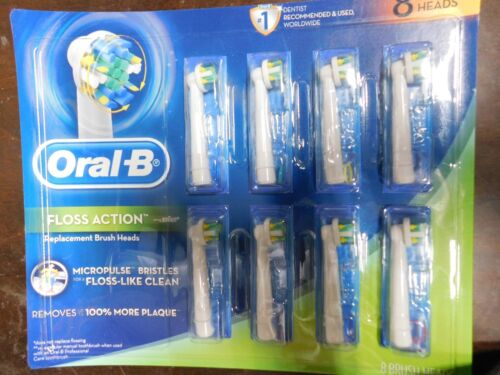 Braun Oral-B Floss Action MicroPulse Bristles Replacement Heads 8-Pack