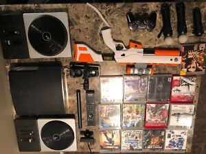PS3 Move with games and accessories.