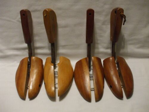 Vintage Rochester NY Shoe Tree Co. # 4 Gene Wooden Stretchers Keepers 2 Pair Lot
