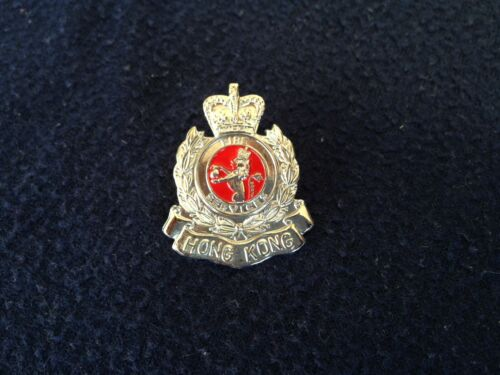 Collectible Hong Kong Fire Service Small Chrome pin multi-color pre-owned