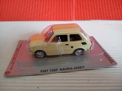 Modellino DIE CAST DeAgostini Auto Fiat 126P Nauka Jazdy Scala 1/43 Nuovo