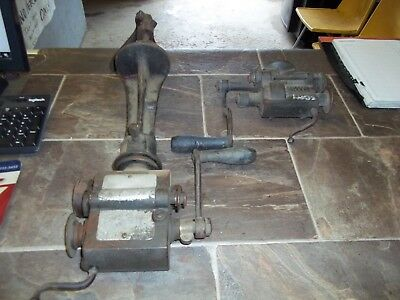 Vintage Sheet Metal Crimper Bender Small Turning Roller Set