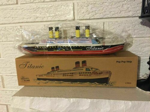 TITANIC TIN Litho TOY Steam Pop Pop BOAT Ship toy Not for Children free shipping