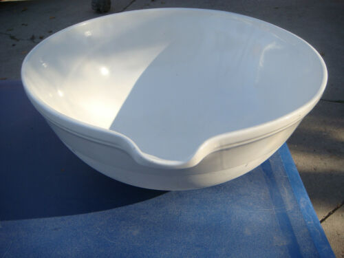 HUGE COORS LABWARE BOWL PORCELAIN EVAPORATING DISH BASIN WITH SPOUT COORS USA 04