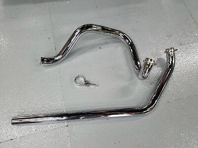 True duals Independent Head Pipes Exhaust Harley FLH Shovelhead 70-1984 4 Speed