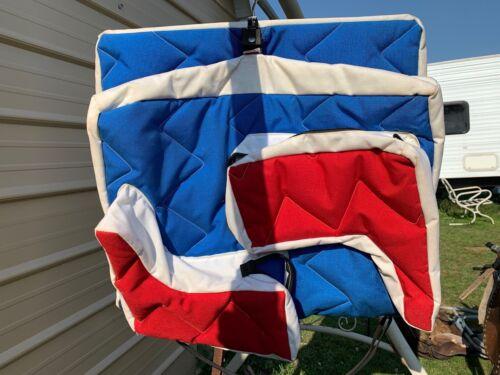 Red,white, blue US made deluxe combo garment/ boot bag Parker Enterprises